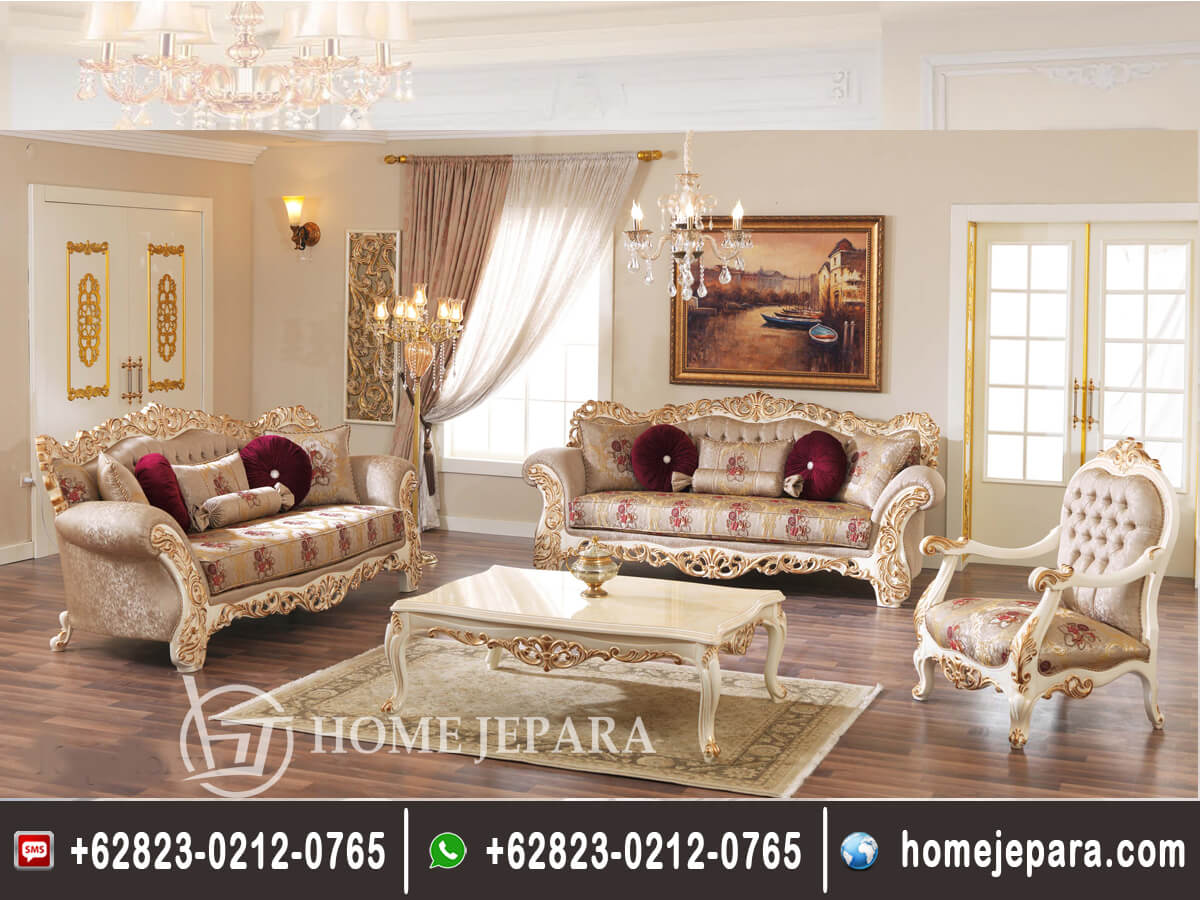 Sofa Tamu Jepara Ukiran Mewah TFR - 0150