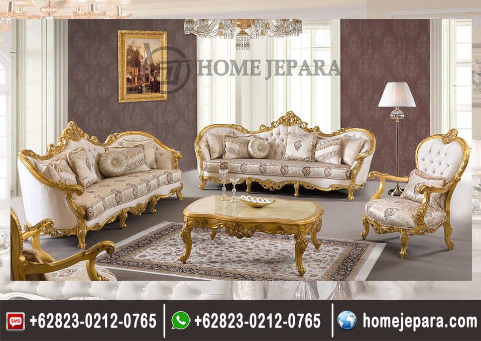 Sofa Tamu Ukiran Donato Gold