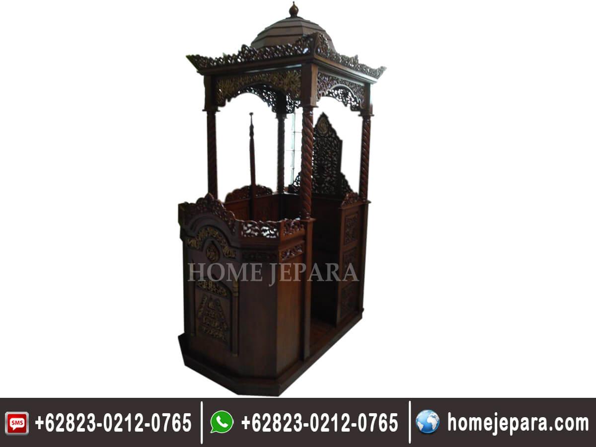 Mimbar Masjid Ukiran Modern TFR - 0172