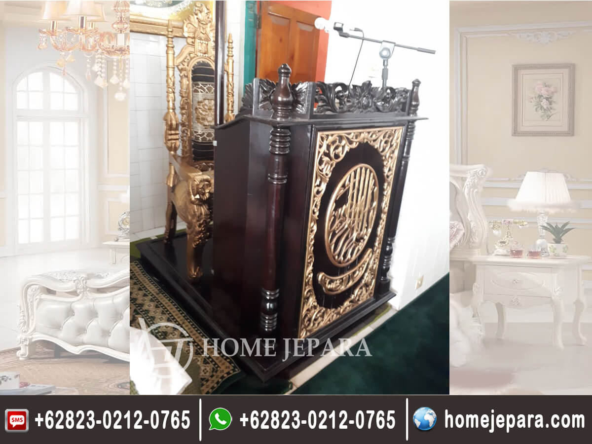 Mimbar Podium Masjid Kaligrafi TFR - 0292