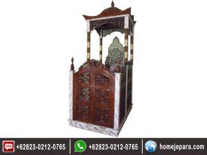Mimbar Masjid Kubah Ukiran TFR – 0170