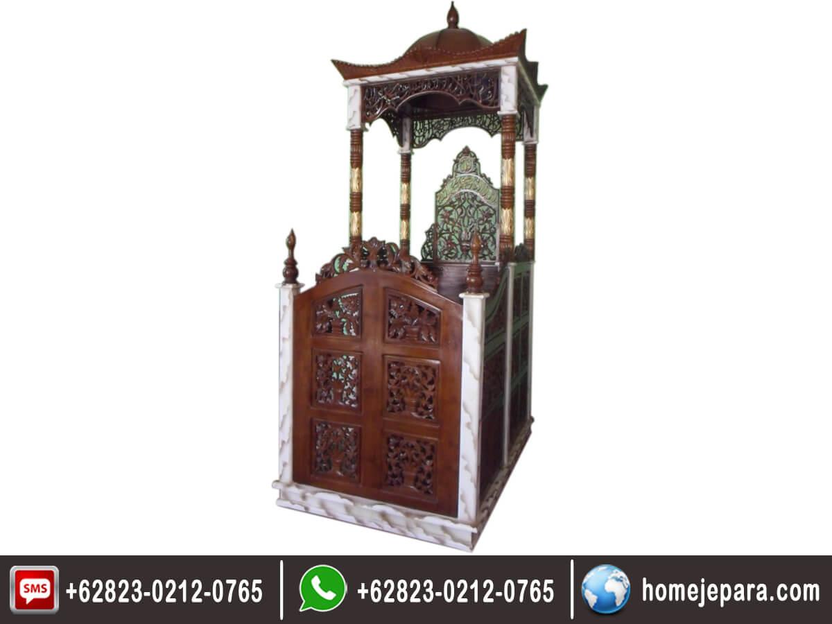 Mimbar Masjid Kubah Ukiran TFR - 0170