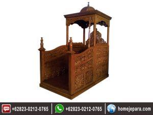 Mimbar Masjid Ukiran TFR – 0238