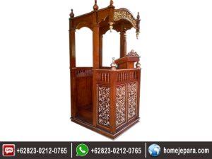 Mimbar Masjid Ukiran Jepara TFR – 0173