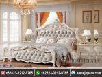 Tempat Tidur Ukiran Modern Putih TFR – 0365