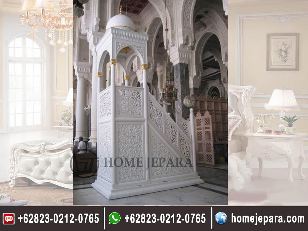 Mimbar Masjid Ukiran Mewah TFR - 0241