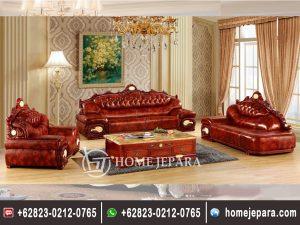 Sofa Tamu Classic Gold Mewah
