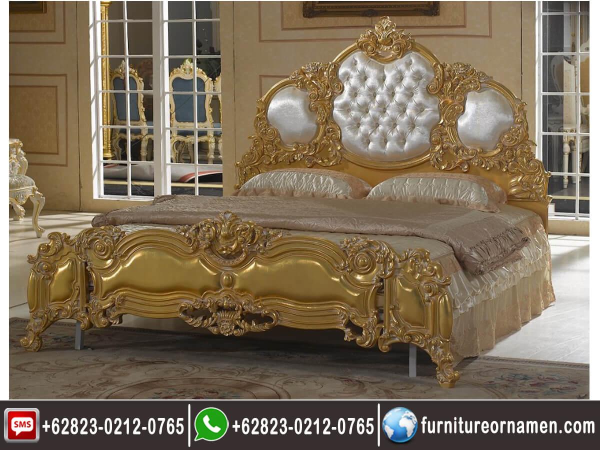 Tempat Tidur Ukiran Gold Mewah TFR - 0686