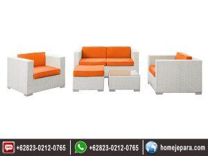 Kursi Sofa Rotan Sintetis Minimalis Modern