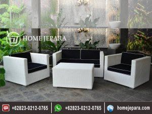 Sofa Rotan MInimalis Putih