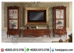 Set Lemari Buffet Tv Jati