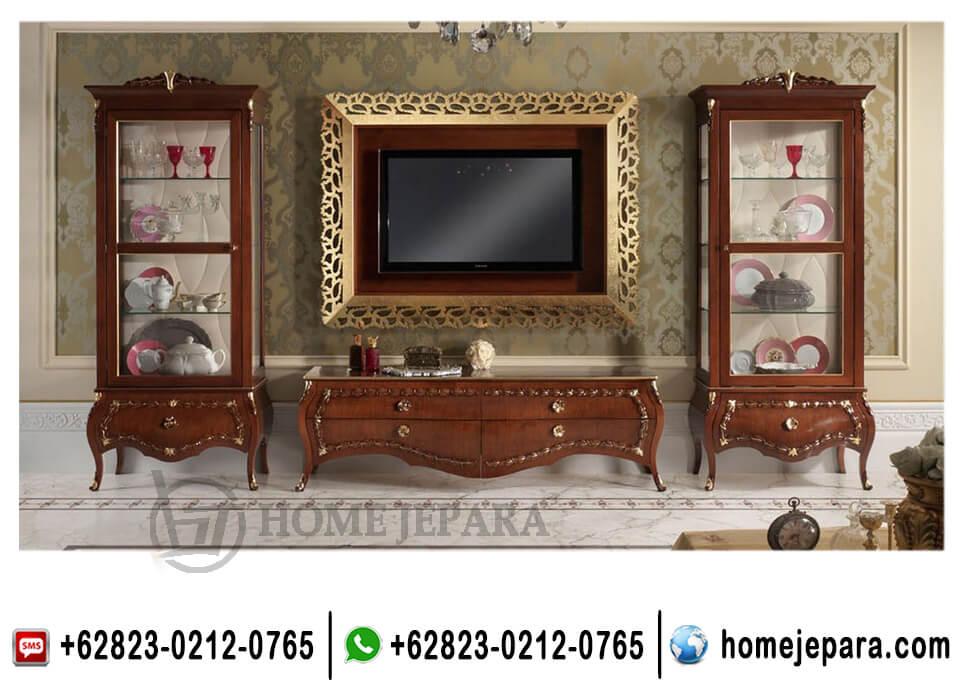 Set Lemari Buffet Tv Jati
