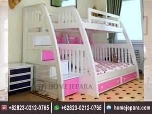 Tempat Tidur Tingkat Pink Minimalis TFR – 0368