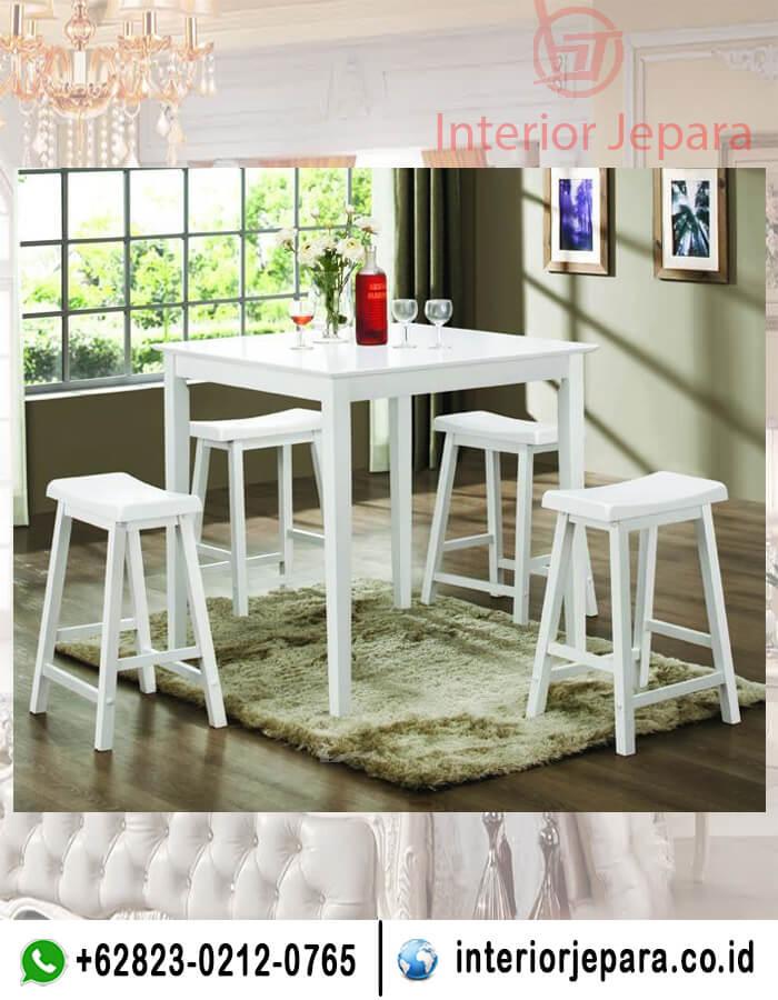 Set Kursi Cafe Bar Putih TFR - 0484