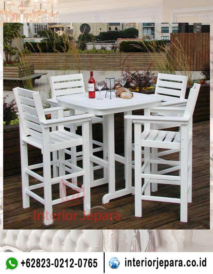 Set Kursi Makan Cafe Minimalis Putih TFR - 0486