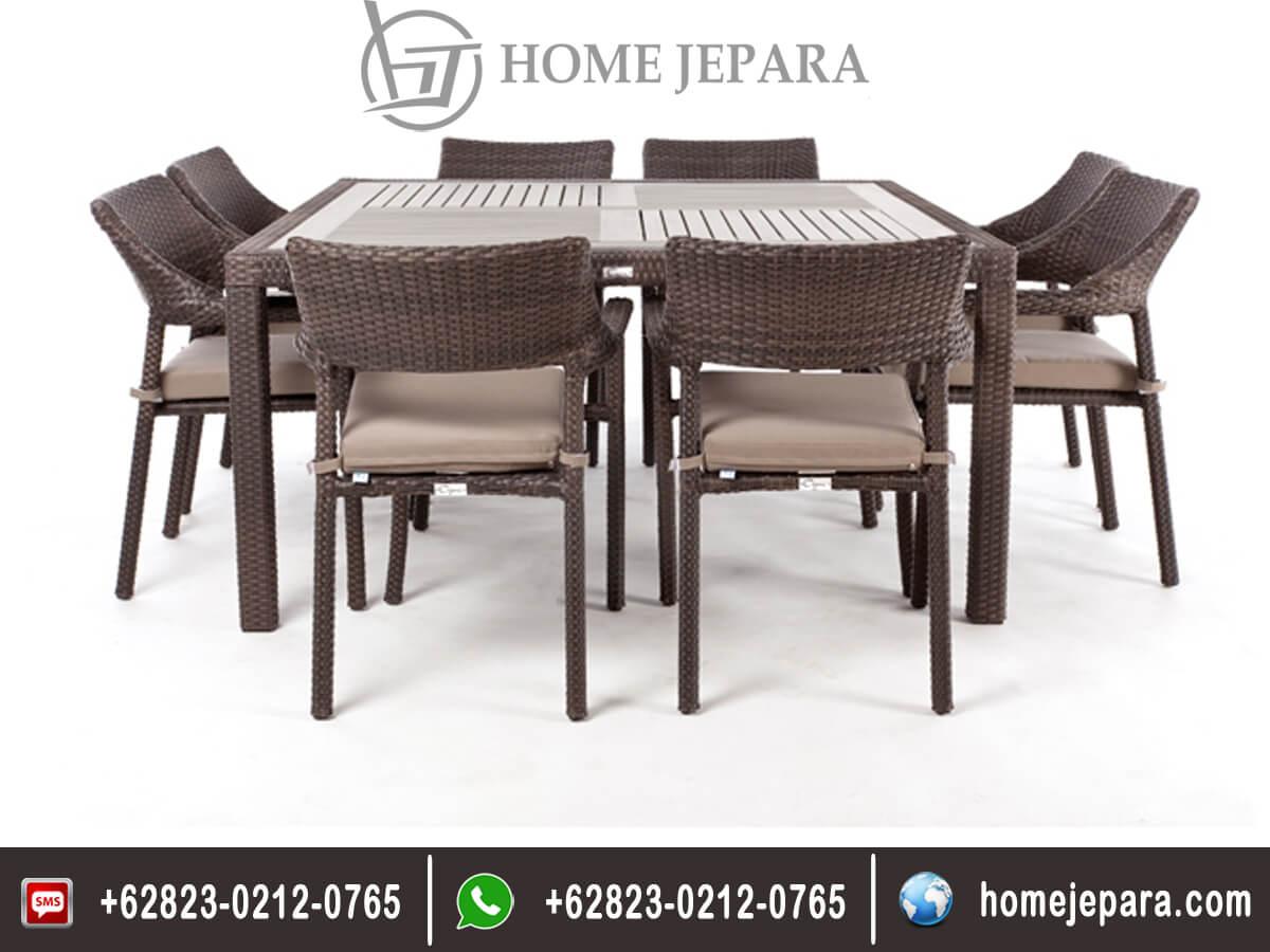 Set Kursi Makan Cafe Rotan Klasik TFR - 0310