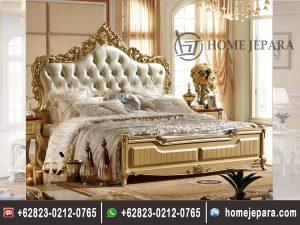 Tempat Tidur Ukiran Mahkota Mewah