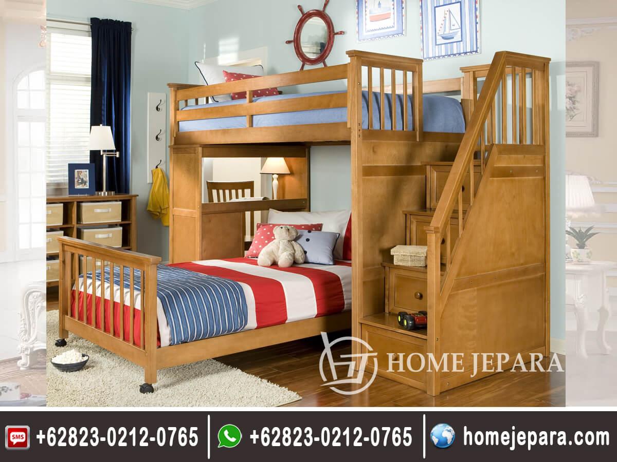 Tempat Tidur tingkat Jati Minimalis TFR - 0433