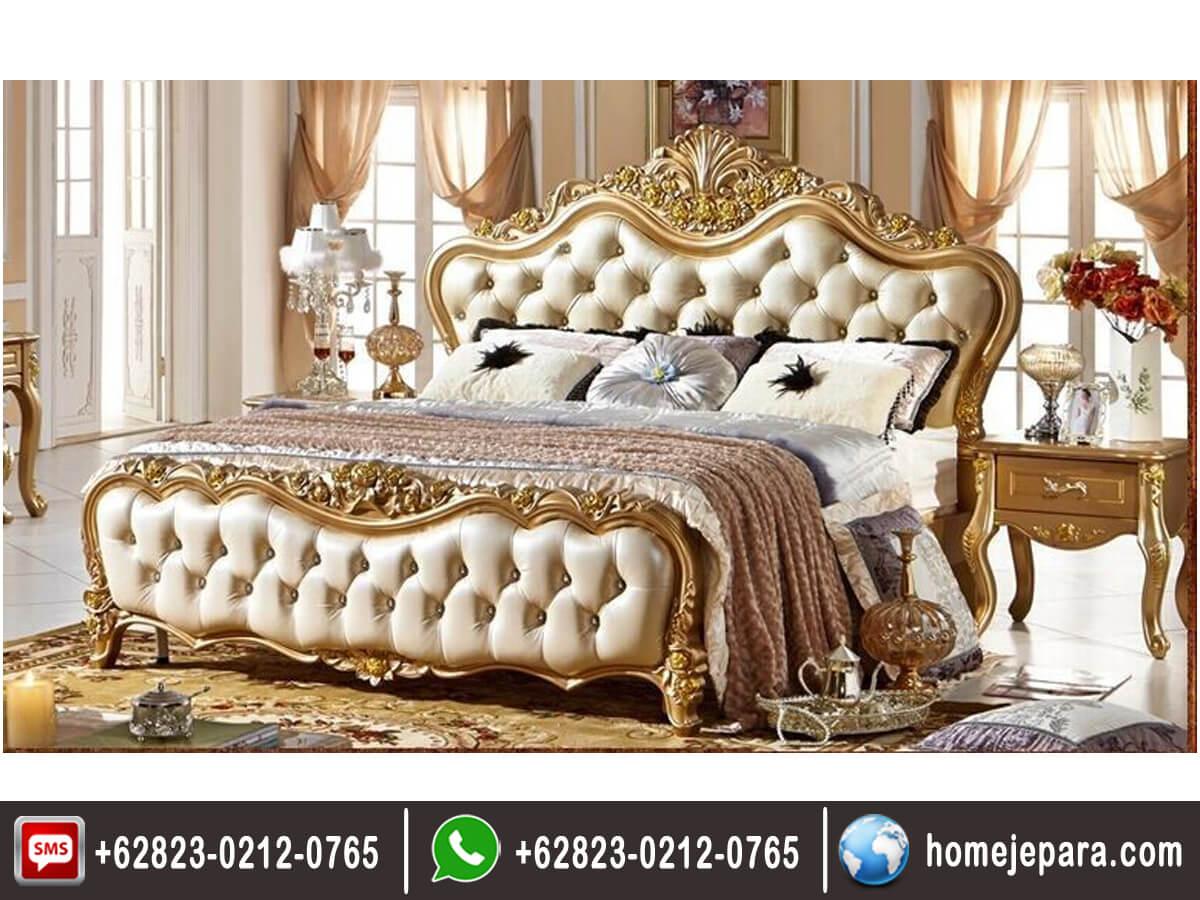 Tempat Tidur Ukiran Jepara Gold TFR - 0423