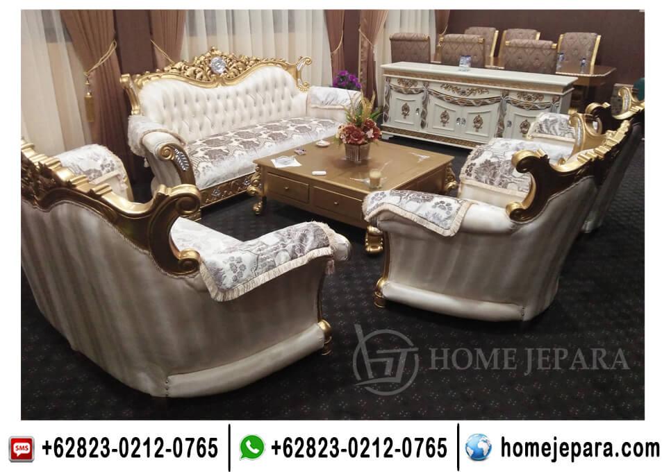 Set Sofa Ukiran Mawar Gold TFR - 0494