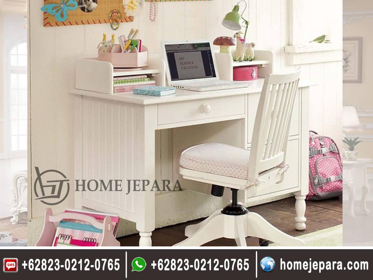 Meja Belajar Duco Putih Modern TFR - 0361