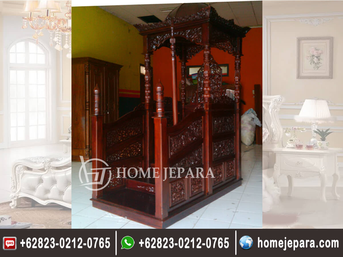 Mimbar Masjid Jati Ukiran Jepara TFR - 0349