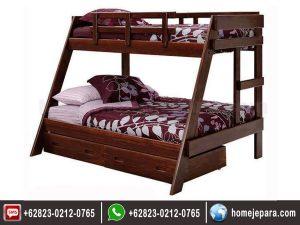 Tempat tidur tingkat jati jepara TFR – 0418