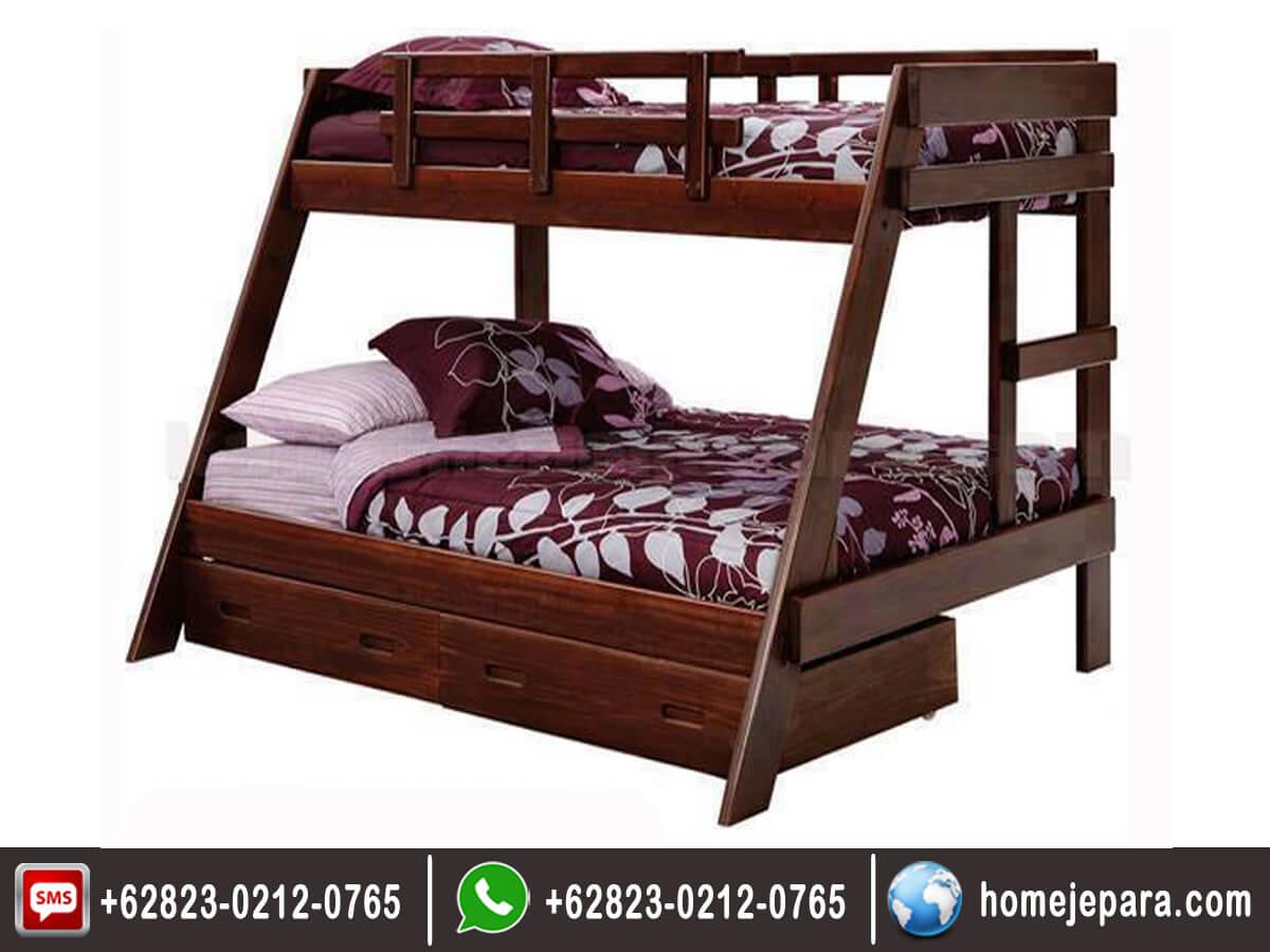 Tempat tidur tingkat jati jepara TFR - 0418