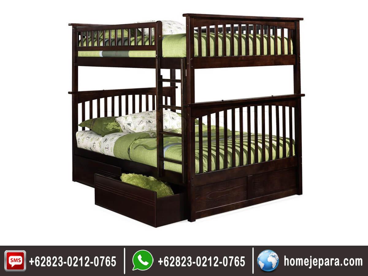 Tempat tidur tingkat jati stora TFR - 0530
