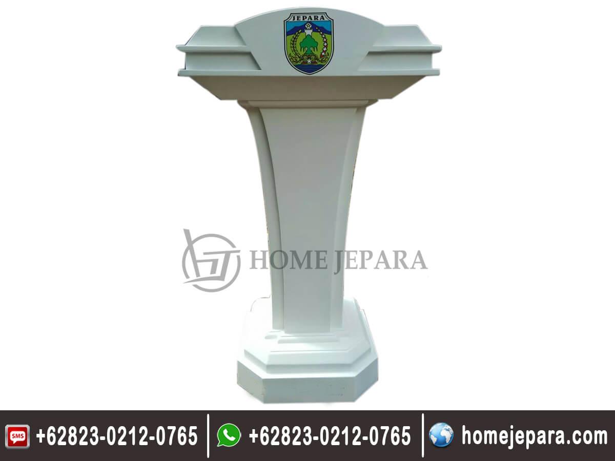 Podium Minimalis Duco Putih TFR - 0464