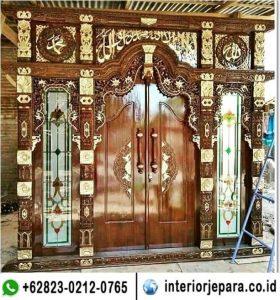 pintu gebyok ukir mewah TFR – 0336