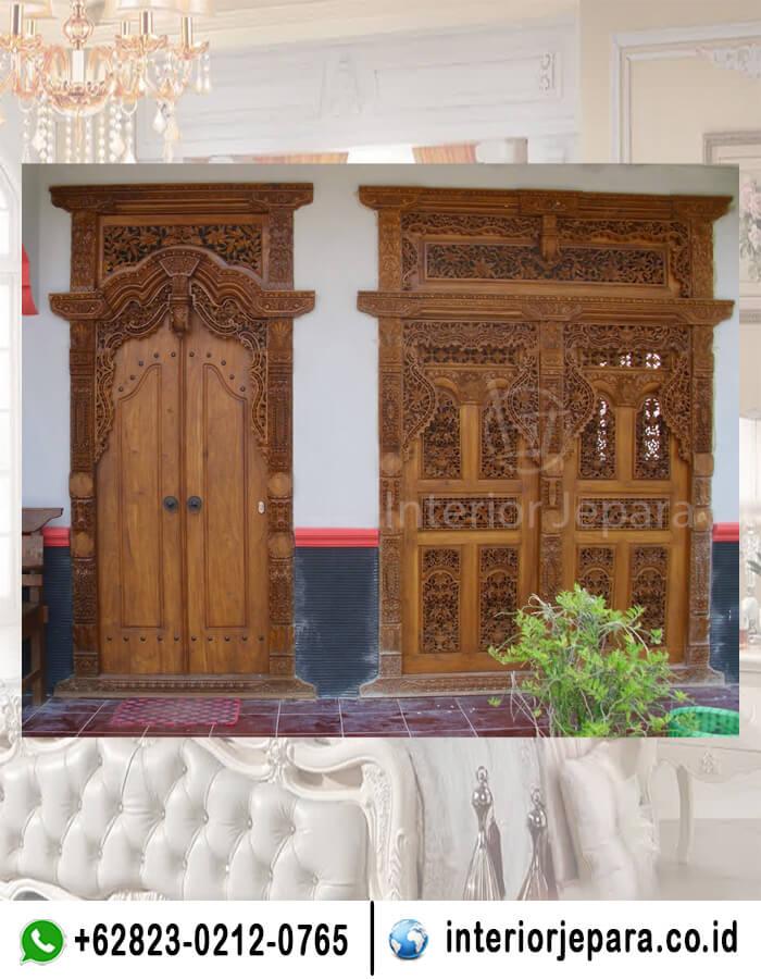Pintu Rumah Gebyok Jati TFR - 0338
