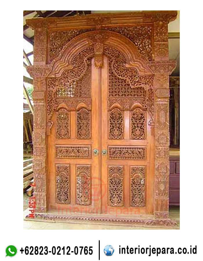 Pintu Rumah Ukir Model Gebyok TFR - 0339