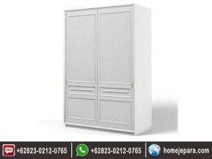 Lemari pakaian minimalis sleding 2 pintu duco TFR – 0436
