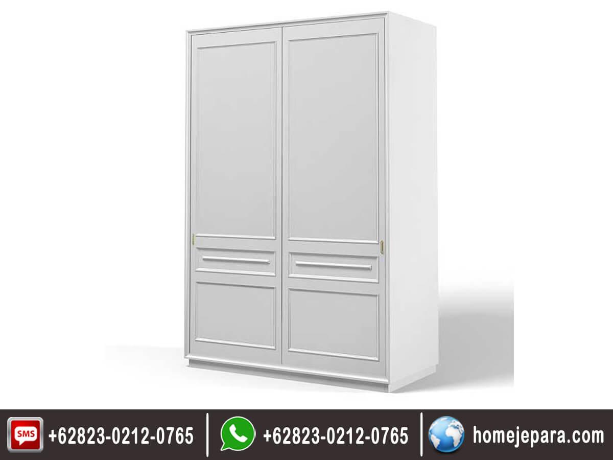 Lemari pakaian minimalis sleding 2 pintu duco TFR - 0436