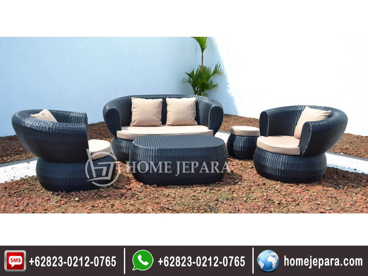 Sofa Tamu Rotan Mewah