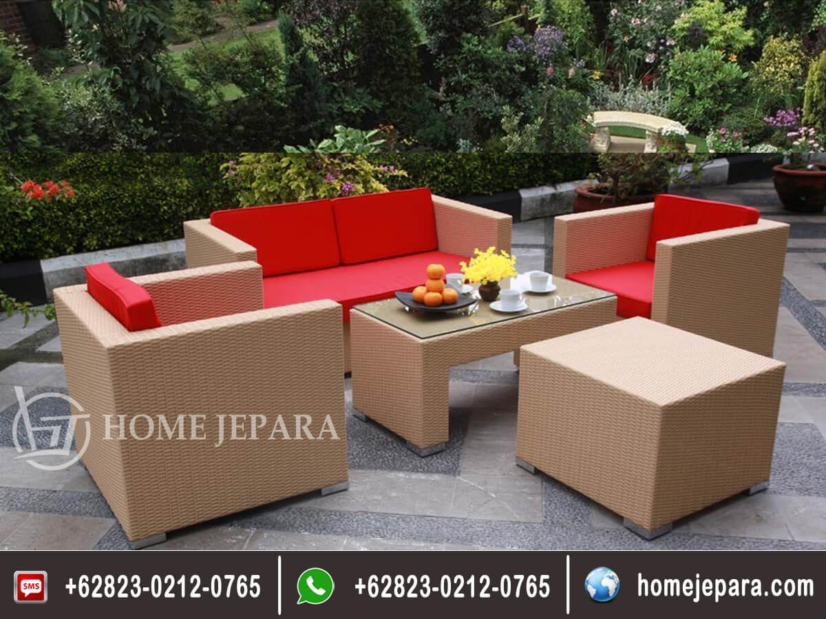 Sofa Tamu Rotan Minimalis Model Baru