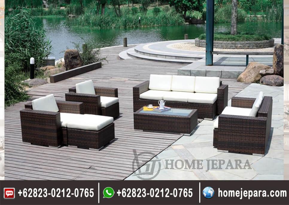 Sofa Rotan Outdoor Minimalis Modern TFR - 0328