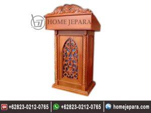 Mimbar Podium Ukiran Jati TFR – 0466