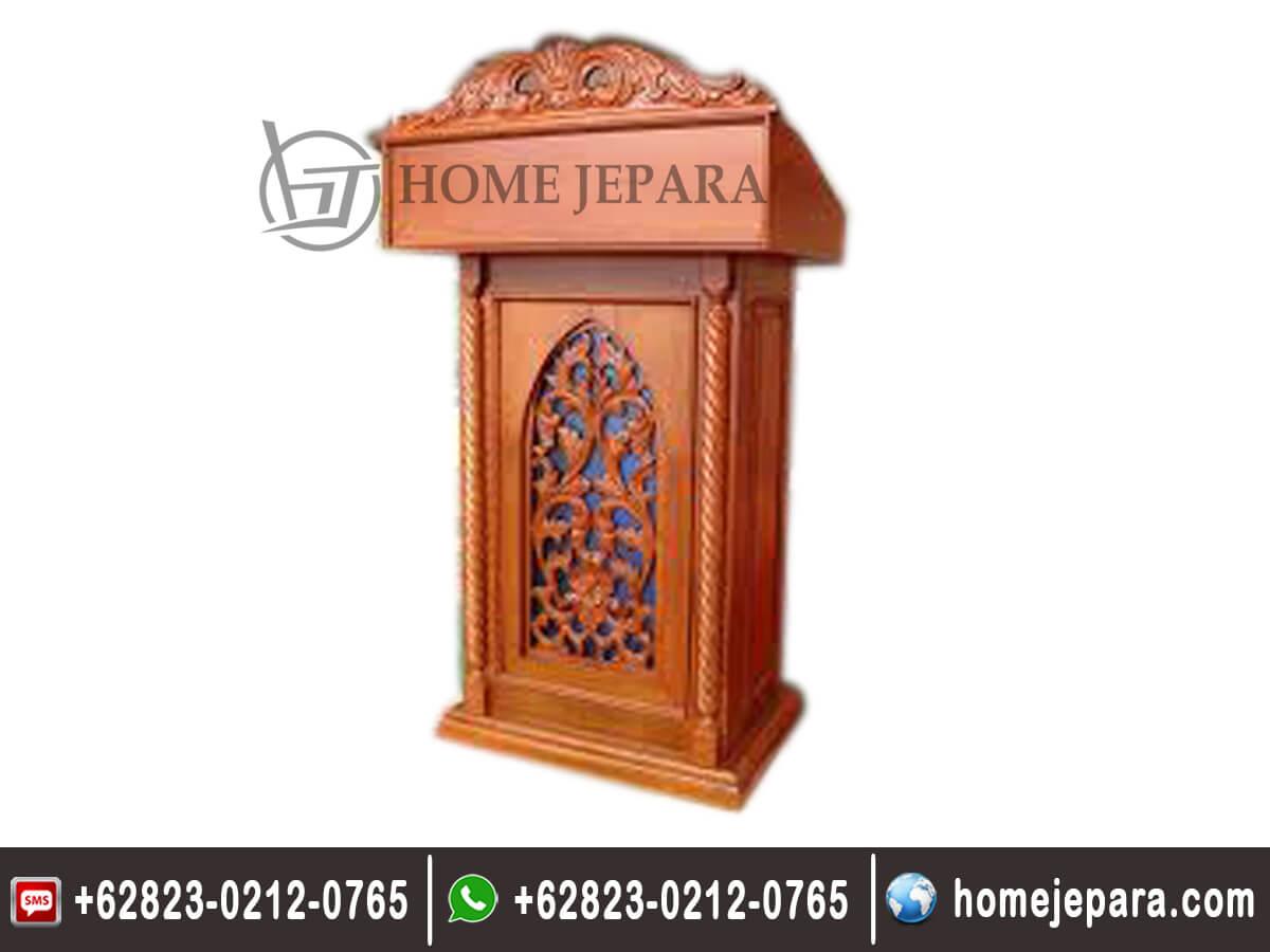 Mimbar Podium Ukiran Jati TFR - 0466