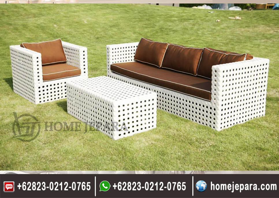 Sofa Tamu Rotan Minimalis Lowes TFR - 0306