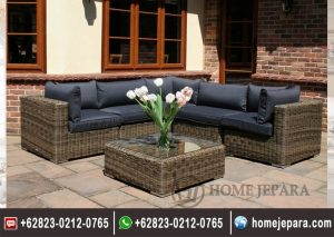 Sofa Sudut Rotan Minimalis Antik TFR – 0323