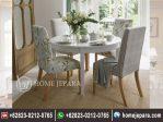 Set Meja Makan Bulat Cafe 4 Kursi TFR – 0628