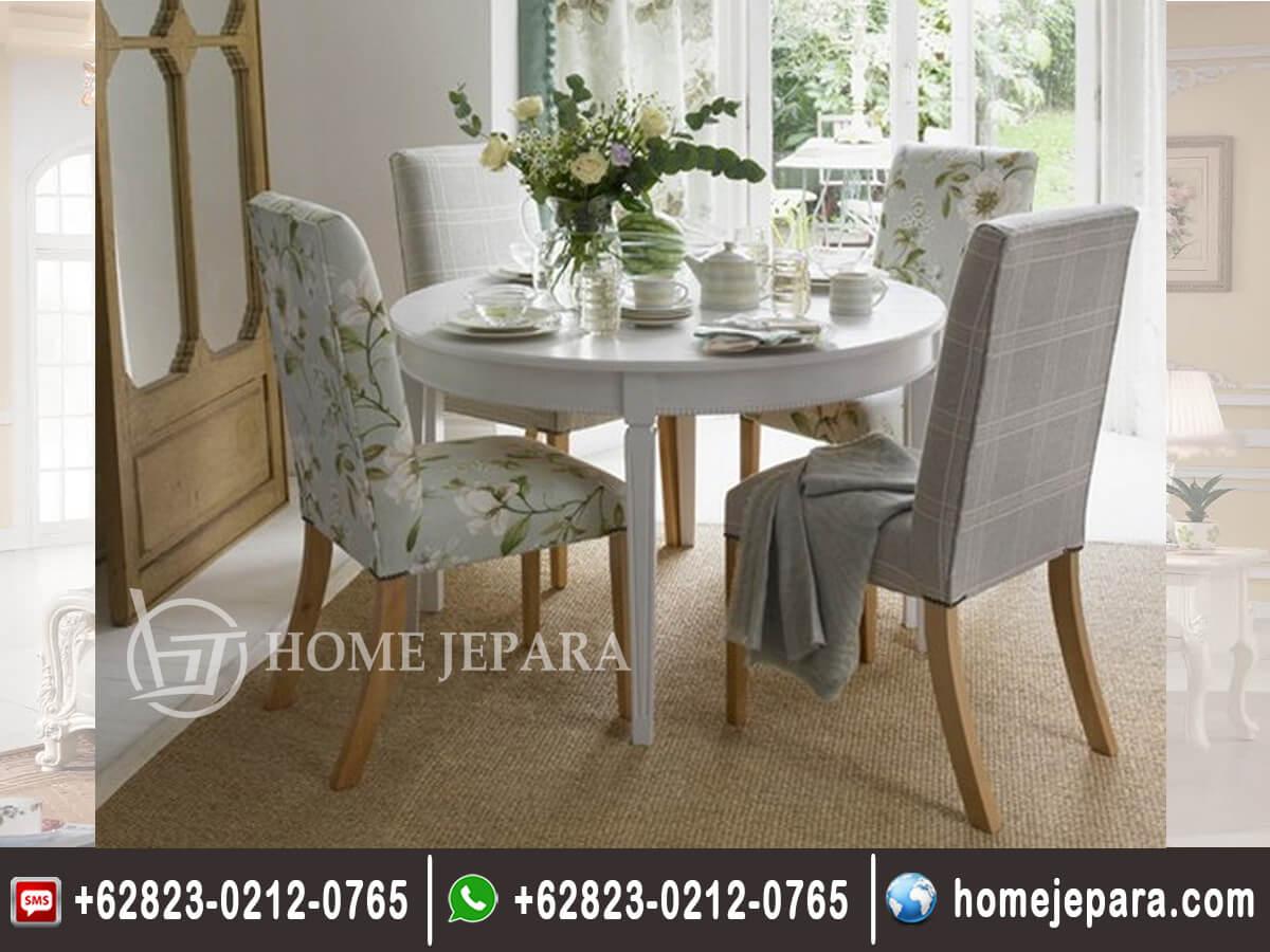 Set Meja Makan Bulat Cafe 4 Kursi TFR - 0628