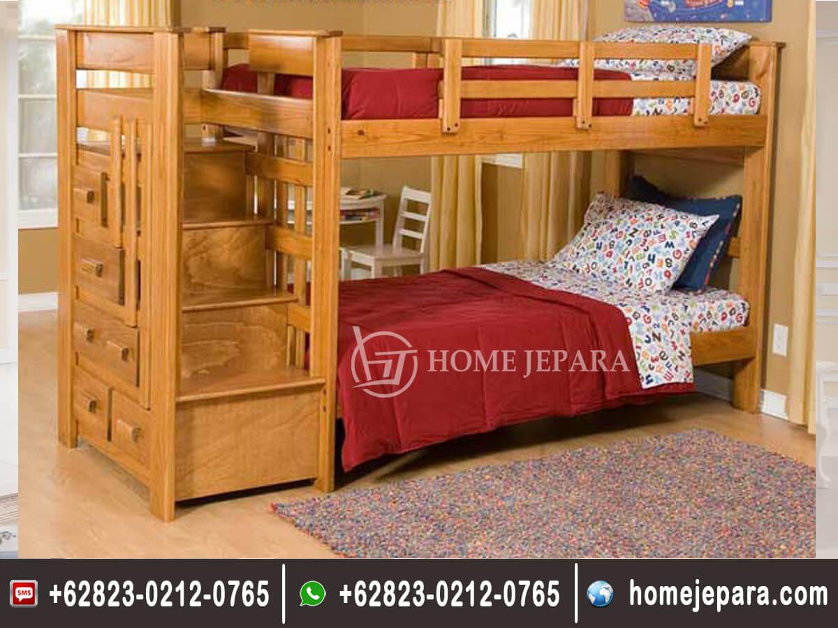 Tempat Tidur Tingkat Minimalis Jati TFR - 0553
