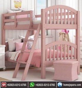 Tempat Tidur Tingkat Pink TFR – 0585