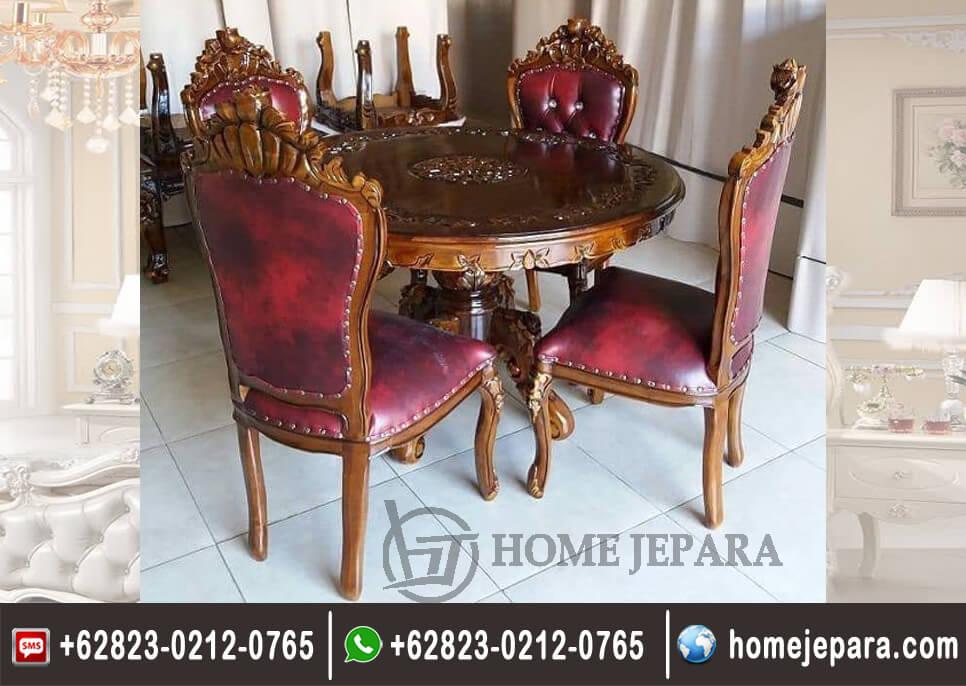 Set Meja Makan Bulat Ganesha TFR - 0619