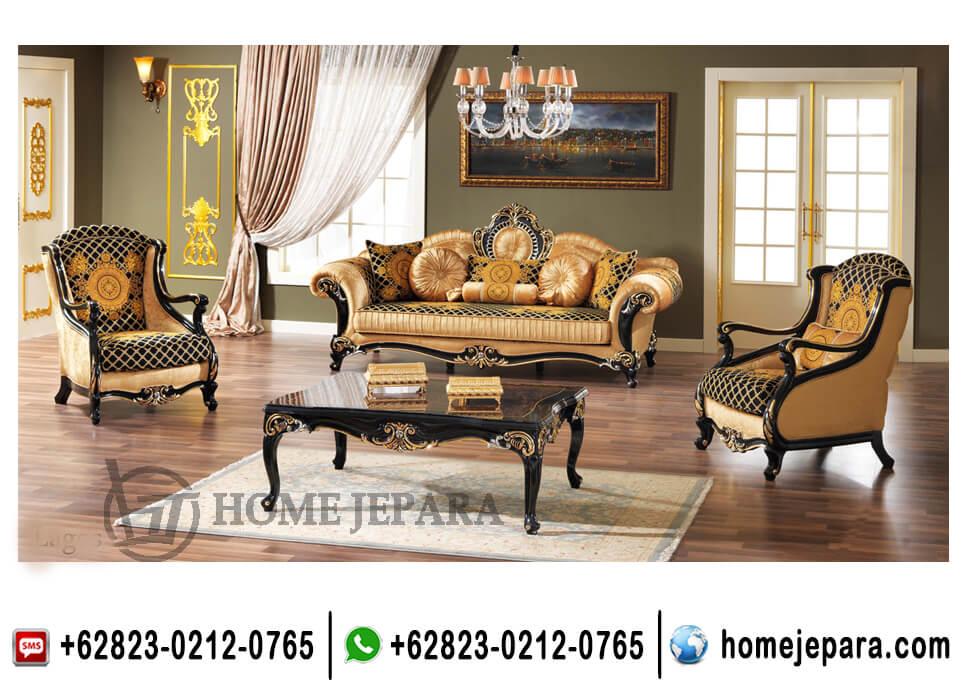 Kursi Set Sofa Tamu Italian Black TFR - 0668