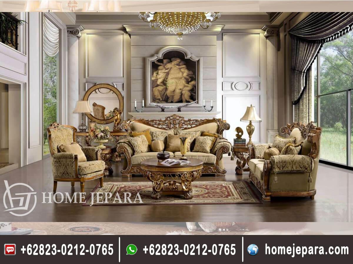 Set Sofa Tamu Ukiran Jepara Classic TFR - 0669