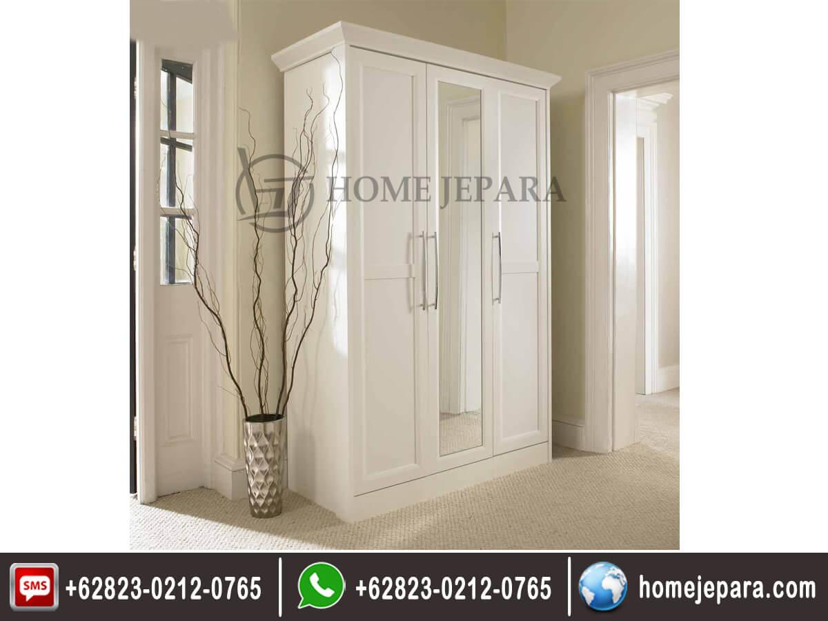 Lemari pakaian 3 pintu minimalis kaca TFR - 0587